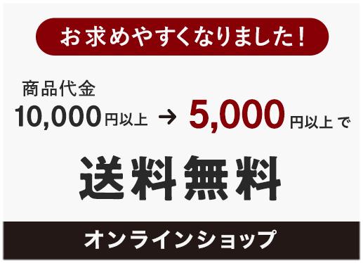 5,000円で送料無料